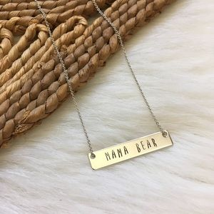 Handmade Mama Bear Necklace